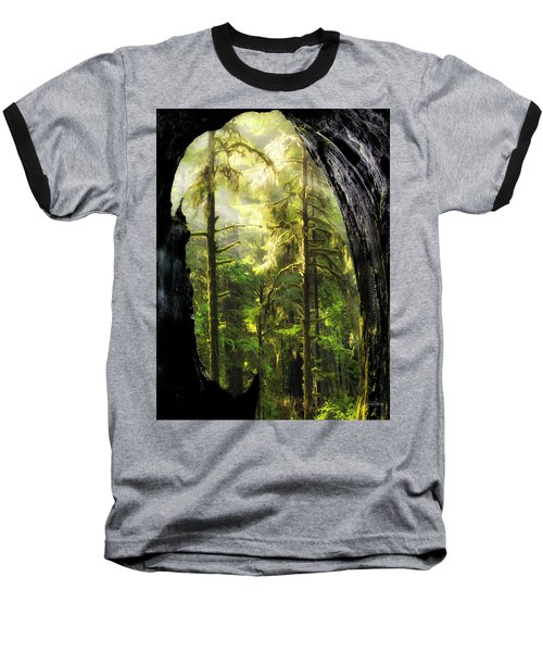 Mystical Forest Opening Baseball T-Shirt by Leland D Howard