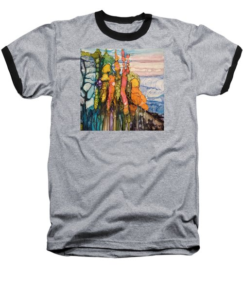 Baseball T-Shirt featuring the painting Mystical Garden by Suzanne Canner