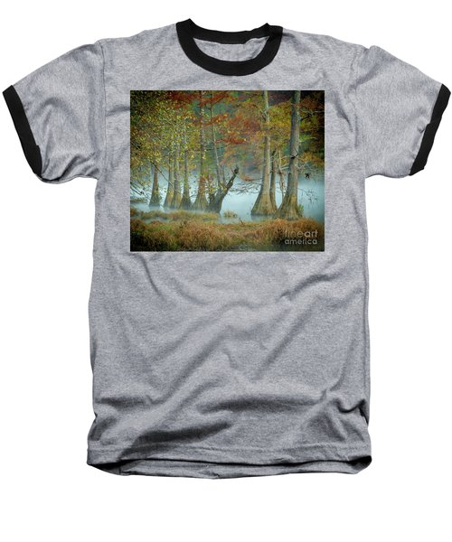 Mystical Mist Baseball T-Shirt by Iris Greenwell