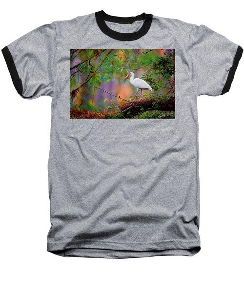 Mystical White Ibis Baseball T-Shirt