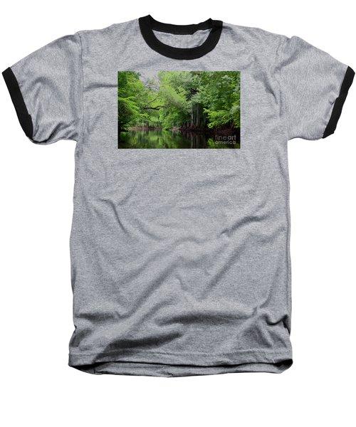 Mystical Withlacoochee River Baseball T-Shirt by Barbara Bowen