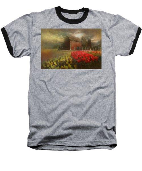 Mythical Tulip Farm Baseball T-Shirt by Jeff Burgess