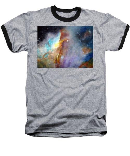 N11b Large Magellanic Cloud Baseball T-Shirt by Allison Ashton