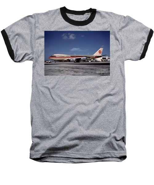 N17011, Continental Airlines, Boeing 747-143 Baseball T-Shirt