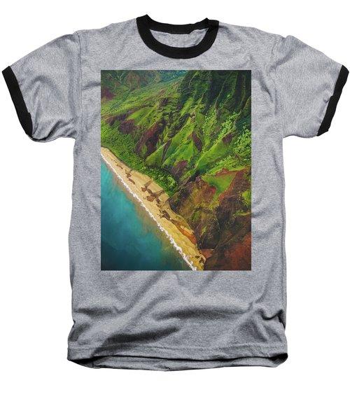 Na Pali Coast Aerial Baseball T-Shirt
