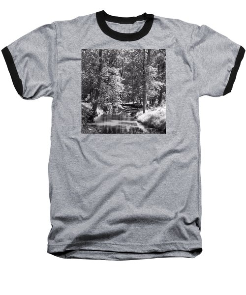 Baseball T-Shirt featuring the photograph Nadine's Creek In Black And White by Kathy Kelly
