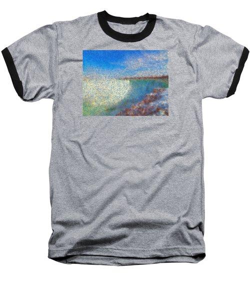 Baseball T-Shirt featuring the painting Nagara Falls Point Of View by Mario Carini