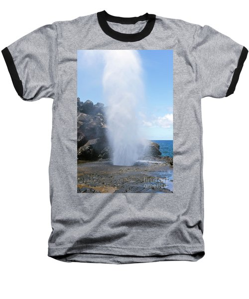 Nakalele Blowhole Baseball T-Shirt