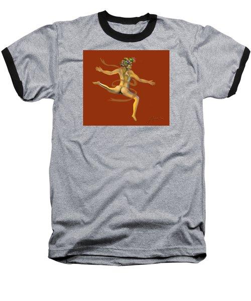 Naked Dancer Baseball T-Shirt
