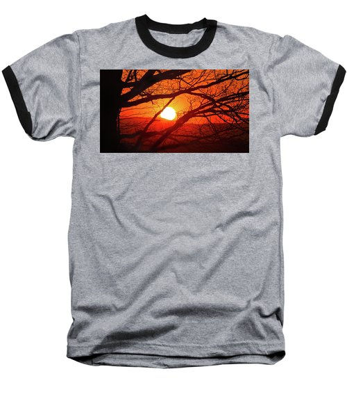 Naked Tree At Sunset, Smith Mountain Lake, Va. Baseball T-Shirt