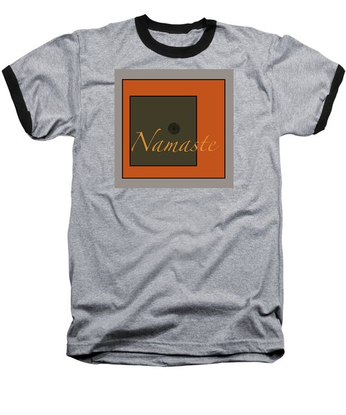 Baseball T-Shirt featuring the digital art Namaste by Kandy Hurley