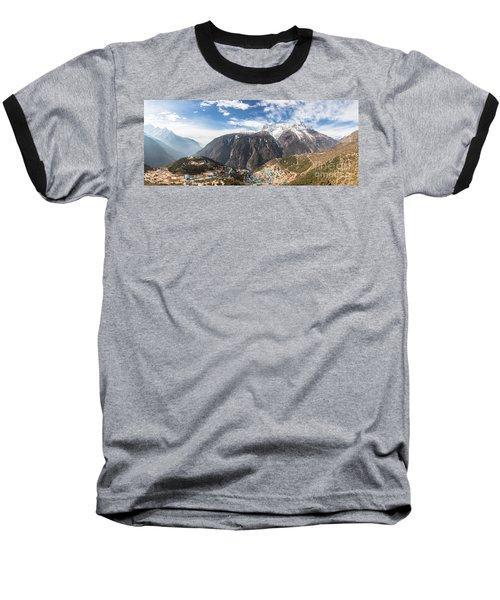 Namche Bazar Panorama Baseball T-Shirt