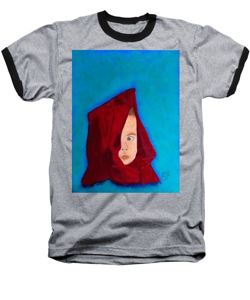 Baseball T-Shirt featuring the painting Nameless by Rod Jellison