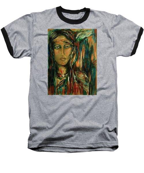 Nancy Ward Beloved Woman Nanye Baseball T-Shirt by Dawn Fisher