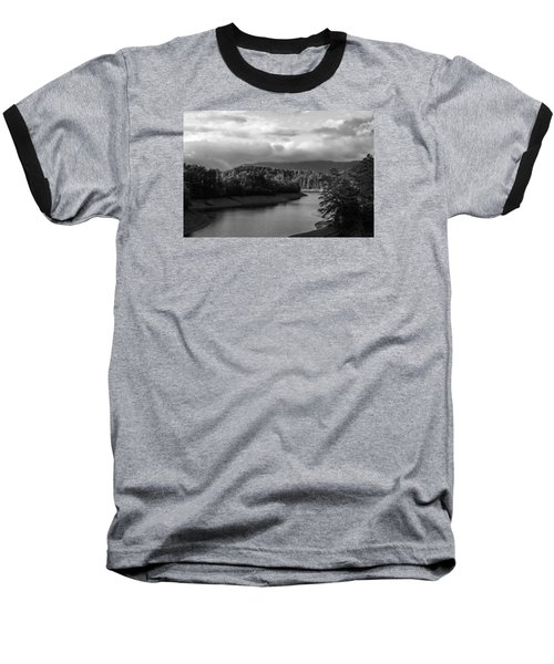 Nantahala River Blue Ridge Mountains Baseball T-Shirt by Kelly Hazel