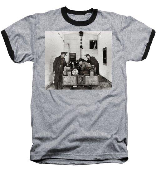 Nanticoke Pa Buttonwood Colliery Inman Shaft Glen Alden Coal Underground Motor Pit 1945 Baseball T-Shirt