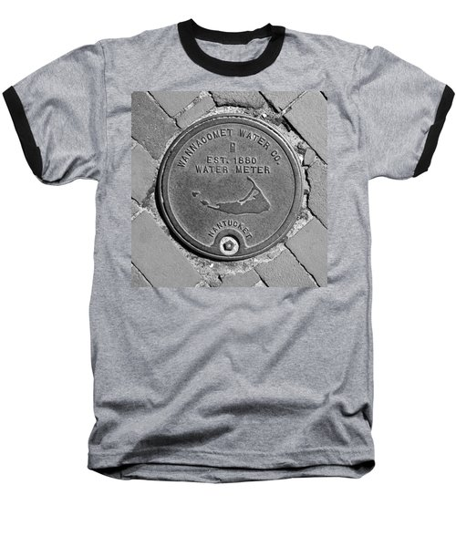 Nantucket Water Meter Cover Baseball T-Shirt by Charles Harden