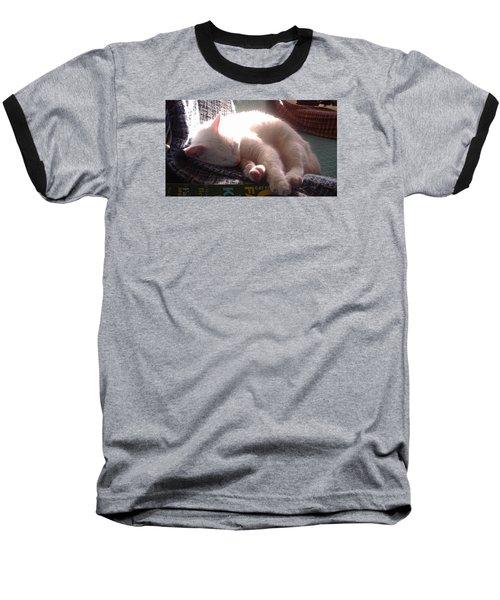 Nap Time Baseball T-Shirt by Denise Fulmer