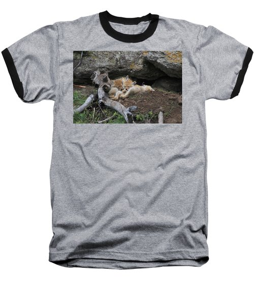 Baseball T-Shirt featuring the photograph Nap Time by Steve Stuller