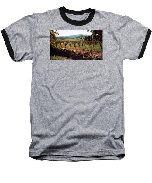 Napa Valley Hills Vineyard Baseball T-Shirt