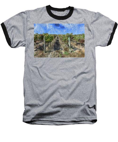 Napa Valley Vineyard - Rows Of Grapes Baseball T-Shirt