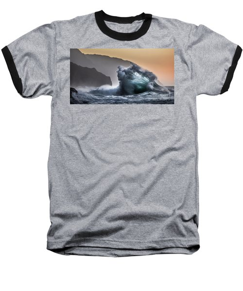 Napali Coast Hawaii Wave Explosion IIi Baseball T-Shirt