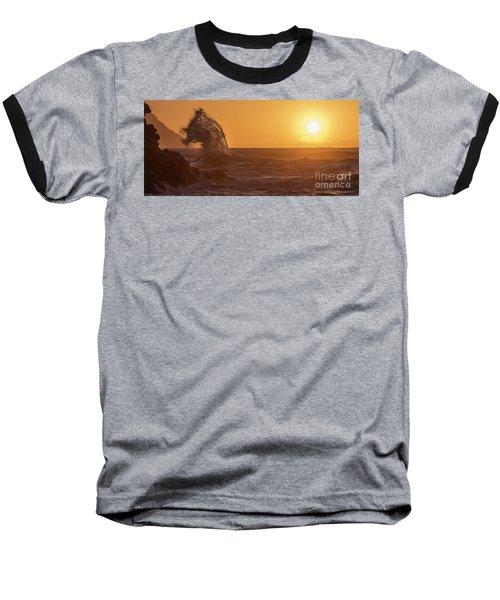 Napali Coast Kauai Hawaii Wave Explosion Iv Baseball T-Shirt