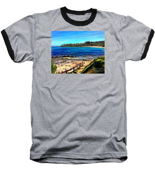 Napili Beach Gazebo Walkway Baseball T-Shirt
