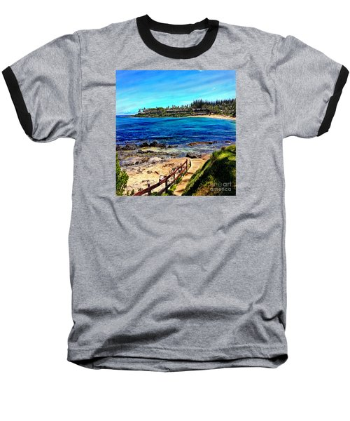 Napili Beach Gazebo Walkway Shower Curtain Size Baseball T-Shirt