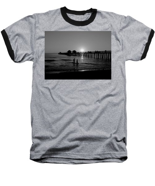 Naples Florida Pier Sunset Baseball T-Shirt