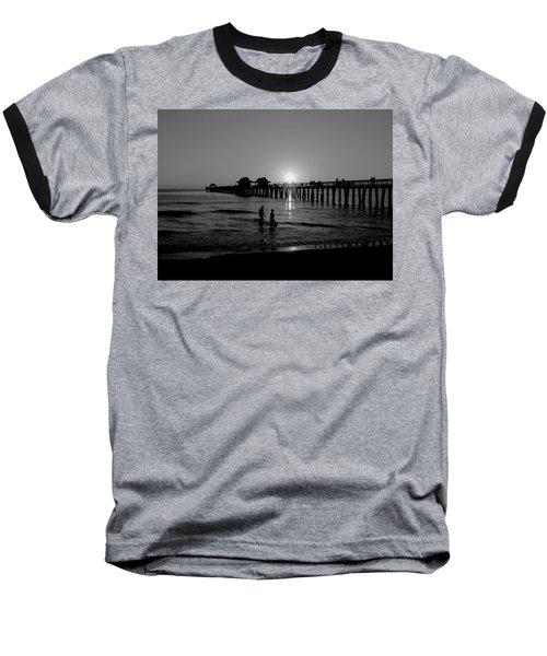 Naples Florida Pier Sunset Baseball T-Shirt