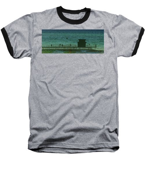 Naples Pier Baseball T-Shirt