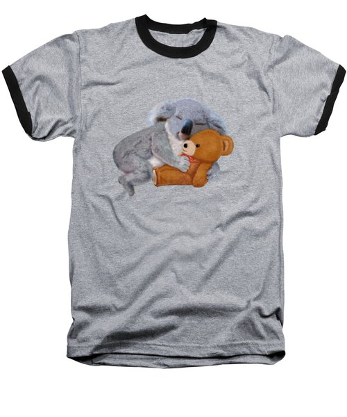 Naptime With Teddy Bear Baseball T-Shirt by Glenn Holbrook