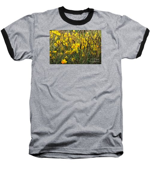 Baseball T-Shirt featuring the photograph Narcissus And Grasses by Tanya Searcy