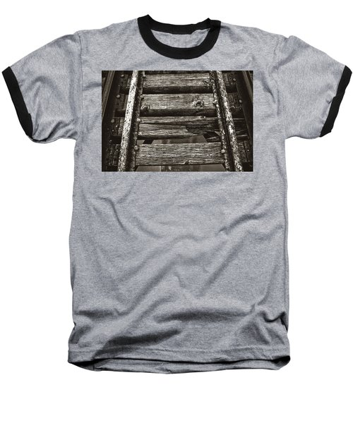 Narrow Gauge Tracks #photography #art #trains Baseball T-Shirt