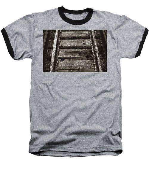 Narrow Gauge Tracks #photography #art #trains Baseball T-Shirt