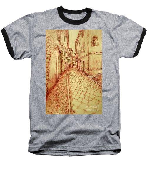 Narrow Street Of Lovere Italy Baseball T-Shirt