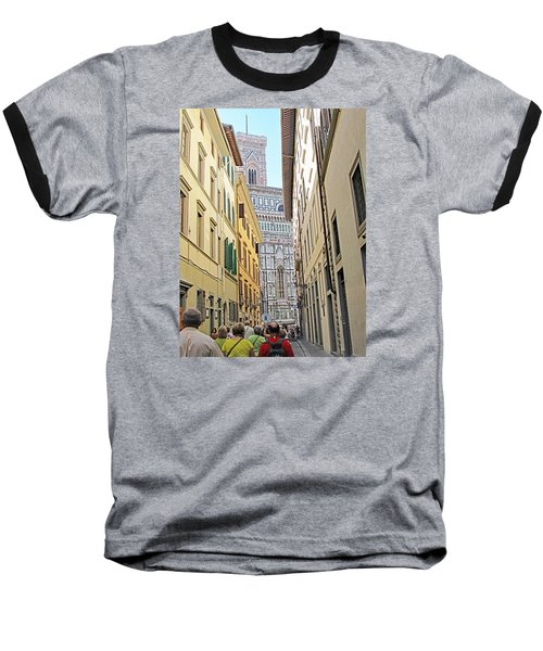 Narrow Street To Catherdal Square Baseball T-Shirt by Allan Levin