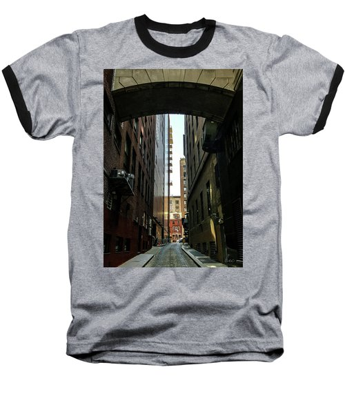 Narrow Streets Of Cobble Stone Baseball T-Shirt
