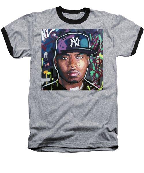 Nas Baseball T-Shirt by Richard Day
