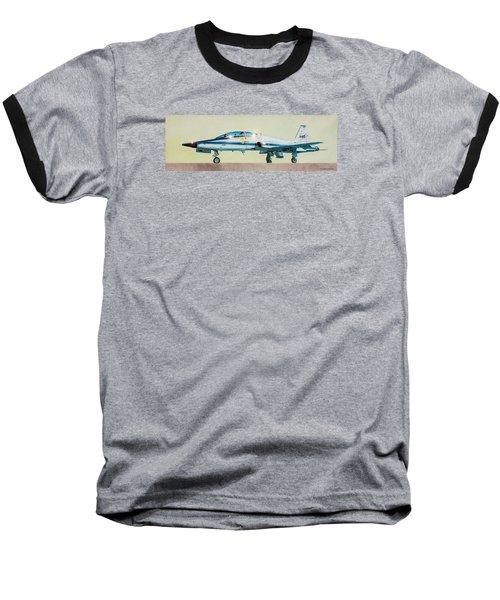 Nasa T-38 Talon Baseball T-Shirt by Douglas Castleman