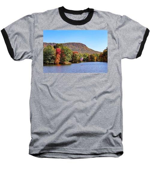 Nashawannuck Pond Fall Colors Baseball T-Shirt