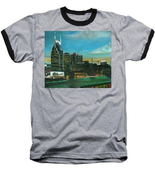 Nashville At Dusk Baseball T-Shirt