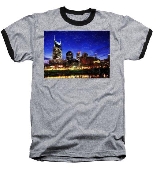 Nashville At Twilight Baseball T-Shirt