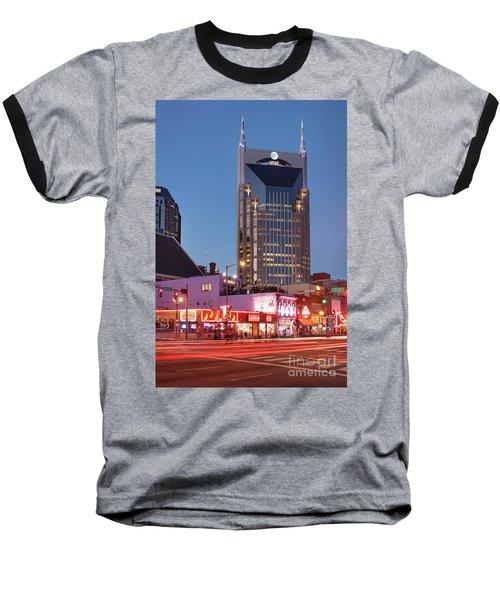 Baseball T-Shirt featuring the photograph Nashville - Batman Building by Brian Jannsen