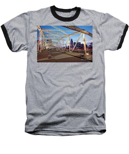Baseball T-Shirt featuring the photograph Nashville Bridge II by Brian Jannsen