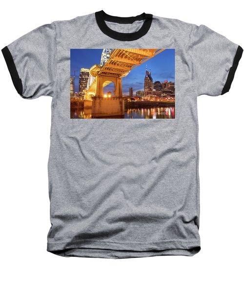 Baseball T-Shirt featuring the photograph Nashville Bridge IIi by Brian Jannsen