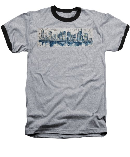 Nashville In Blues Baseball T-Shirt