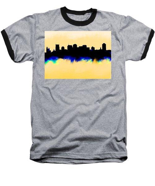 Nashville  Skyline  Baseball T-Shirt by Enki Art