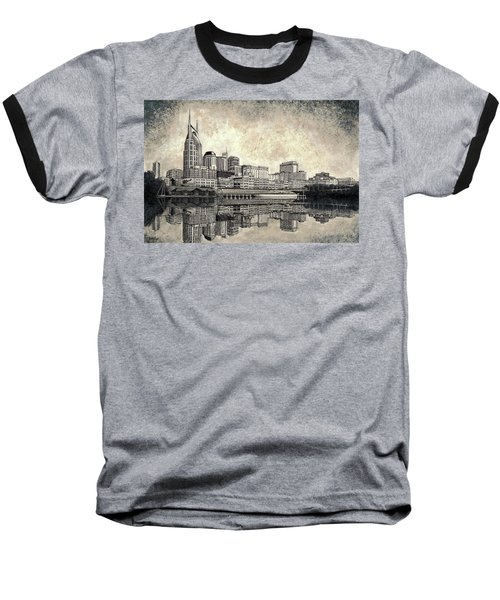Nashville Skyline II Baseball T-Shirt by Janet King